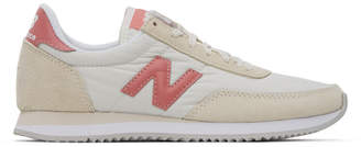New Balance Off-White and Pink 720 Sneakers