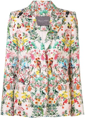 Monique Lhuillier Floral Fitted Blazer