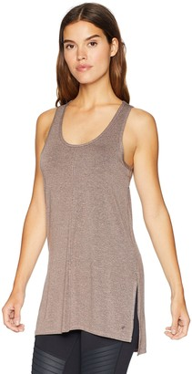 Splendid Women's Studio Activewear Athletic Workout Tank Shirt with Open Back