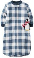 Carter's Baby Boy Plaid Penguin Sleep Bag