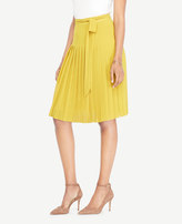 Ann Taylor Petite Pleated Tie-Waist Skirt