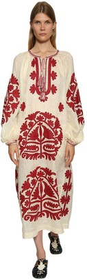 Vita Kin Shalimar Embroidered Linen Dress