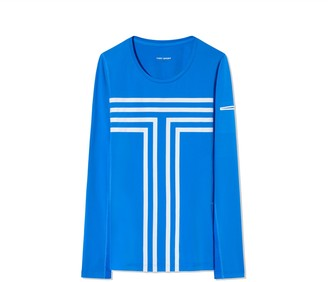 Tory Burch Performance Graphic-T Long-Sleeve Top