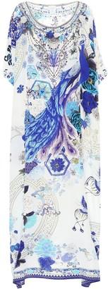 Camilla Printed silk kaftan