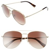 Valentino Women's 56Mm Aviator Sunglasses - Matte Gold