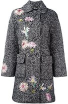 Blumarine embroidered tweed coat