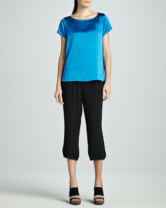 Eileen Fisher Washable Silk Cropped Pants