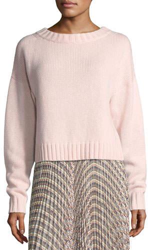Derek Lam Cropped Cotton-Cashmere Sweater