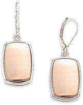 Nine West Two-Tone Large Drop Earrings