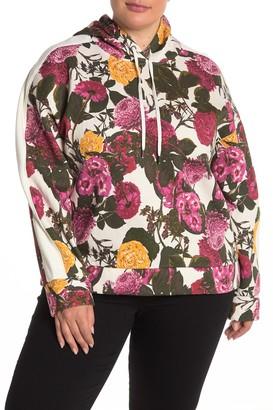 Rachel Roy Floral Print Hoodie (Plus Size)