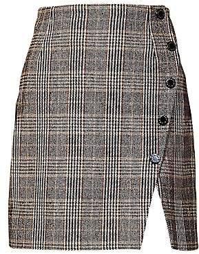 Sandro Women's Nona Plaid Mini Skirt