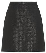 A.P.C. Ada Metallic Cotton-blend Miniskirt