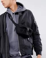 Asos Bum Bag In Black Mesh