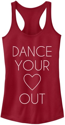Junior's Chin-Up Dance Your Heart Out Racerback Tank