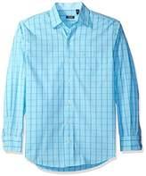 Izod Men's Essential Windowpane Long Sleeve Shirt