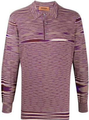 Missoni Gradient Knit Polo Shirt