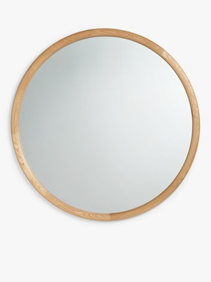 John Lewis & Partners Round Oak Wood Wall Mirror, 150cm, Natural