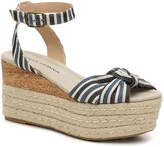 Moda Spana Women's Taylor Wedge Sandal -Navy/Ivory Canvas