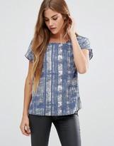 JDY Printed Short Sleeve Top