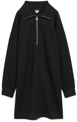 Arket Half Zip Jersey Dress