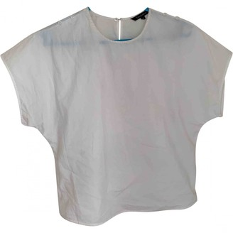Tara Jarmon White Cotton Tops