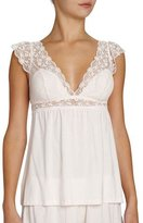 Eberjey Kiss the Bride Lace-Trim Camisole, Light Pink