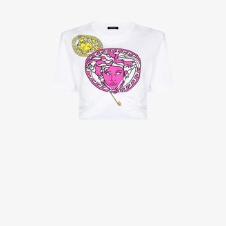Versace Medusa print cropped T-shirt