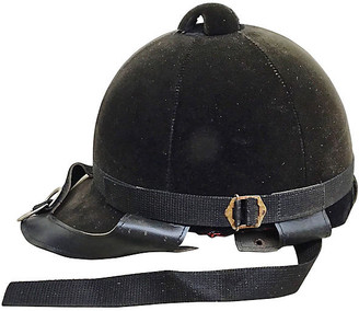 One Kings Lane Vintage Equestrian Riding Helmet - Vermilion Designs - black/red/gold