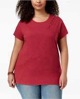 Lucky Brand Trendy Plus Size Cotton T-Shirt