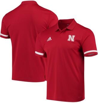 adidas Nebraska Cornhuskers Team climacool Polo - Scarlet