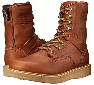 Georgia Boot Wedge 8 Lace Up (Barracuda Gold) Men's Work Lace-up Boots
