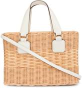Mark Cross Manray Small Tote in Rattan Saffiano