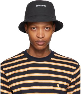 Carhartt Work In Progress Black Logo Script Bucket Hat