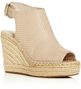 Kenneth Cole Olivia Snake-Embossed Espadrille Wedge Sandals