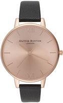 Olivia Burton Women's Big Dial Watch Black/Rose Gold