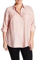 Vince Camuto Long Sleeve Blouse (Plus Size)