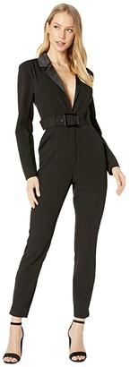 WeWoreWhat Blazer Jumpsuit (Black) Women's Jumpsuit & Rompers One Piece