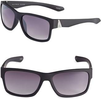Alfred Sung 58mm Flat Top Wayfarer Sunglasses