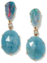 Jan Leslie 18K Rose Gold 2-Tier Tribal Earrings, Turquoise