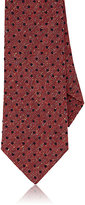 Isaia Men's Dot-Embroidered Necktie-RED