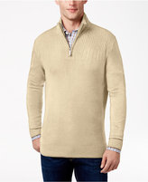 Geoffrey Beene Men's Big & Tall Quarter Zip Sweater