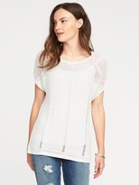 Old Navy Pointelle Cap-Sleeve Sweater for Women
