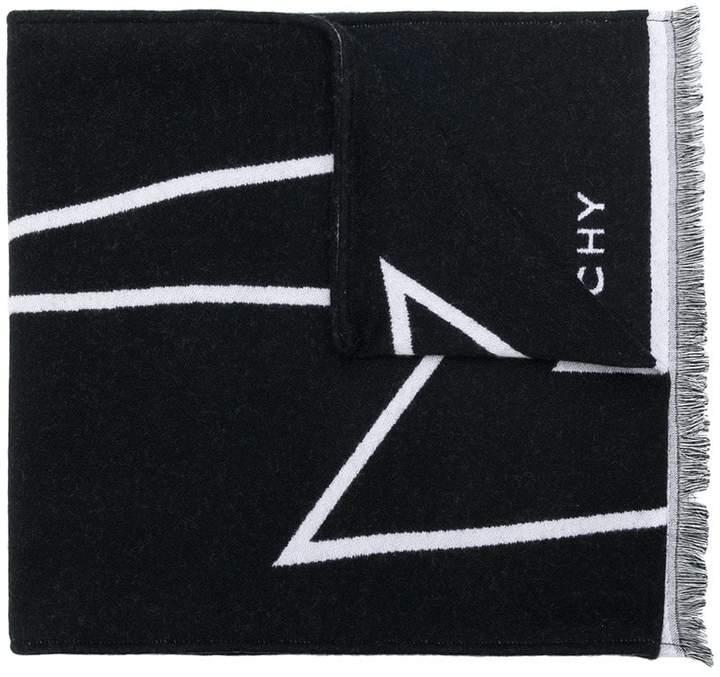 Givenchy lightning bolt logo scarf