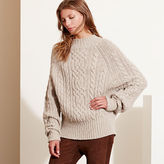 Ralph Lauren Cable-Knit Dolman Sweater