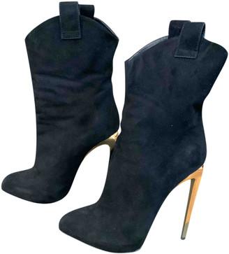 Giuseppe Zanotti Black Suede Boots