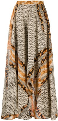 Mes Demoiselles patterned A-line skirt