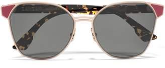 Cat Eye Zanzan Cat-eye Gold-tone And Tortoiseshell Acetate Sunglasses