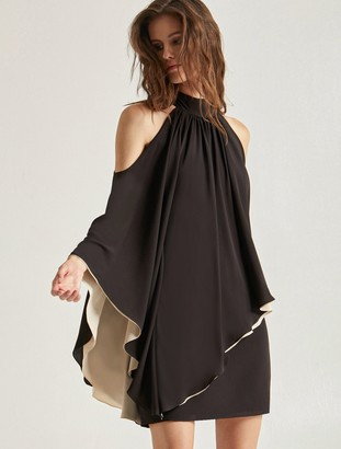 Halston Mock Neck Dress