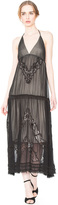 Alice + Olivia Lupita Halter Embroidered Dress