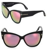 Tom Ford Anoushka 57MM Mirrored Cat's-Eye Sunglasses